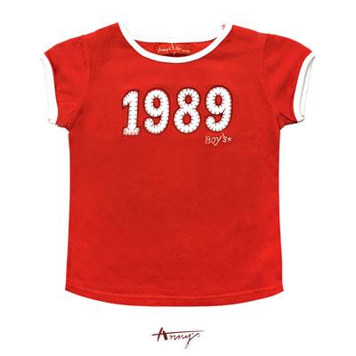 Annys1989BOY活力紅經典短袖上衣*8377紅