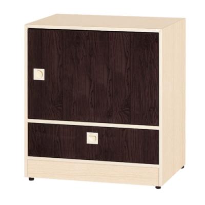 文創集 安倍 環保2尺南亞塑鋼單抽單門置物櫃/收納櫃-61.4x45x69cm免組