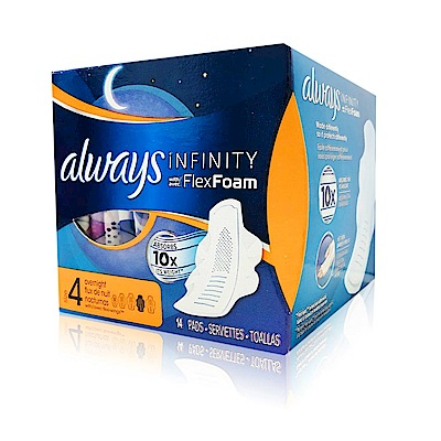Always 液體衛生棉-未來感系列-一般夜用30cm*14片/盒