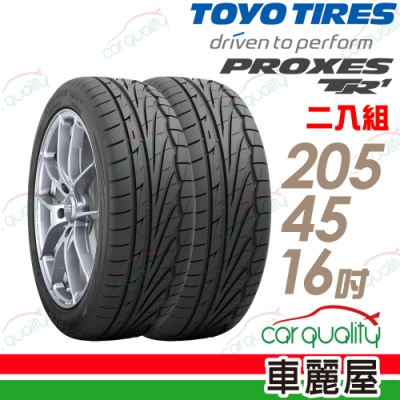 【TOYO】PROXES TR1 溼地操控性輪胎_二入組_205/45/16