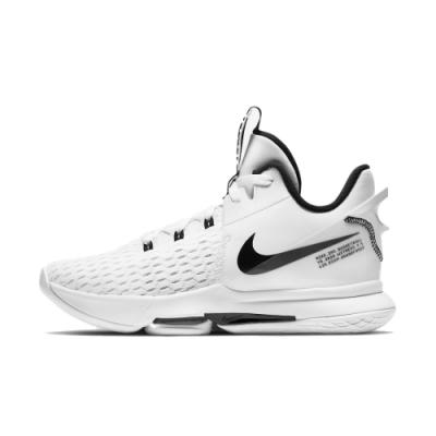 NIKE LeBron Witness 5 EP 男籃球鞋-白黑-CQ9381101