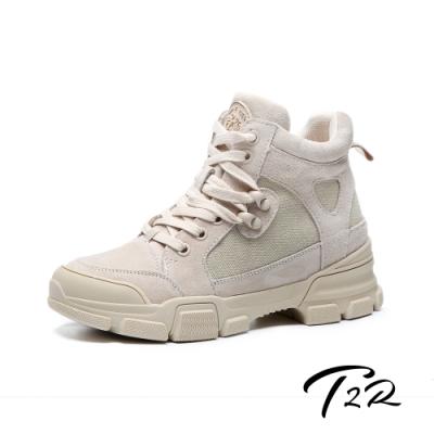 T2R-正韓空運-真皮短靴-隱形增高鞋-增高7公分-黑