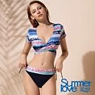 夏之戀SUMMER LOVE 大女短版二件式泳衣