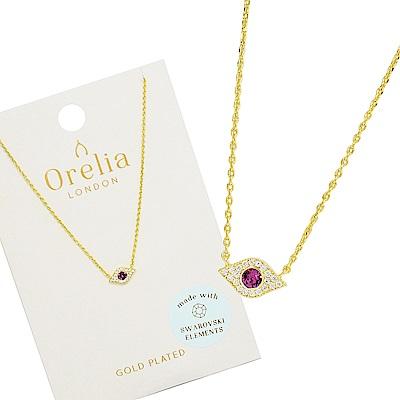 Orelia英國品牌 水晶惡魔之眼金色項鍊