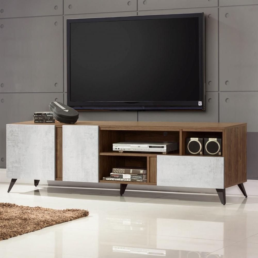 D&T 德泰傢俱 DINO清水模風格6尺電視櫃 -180x47x56cm
