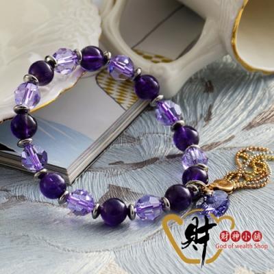 財神小舖 愛戀之心 紫水晶手鍊 8mm (含開光) S-6208