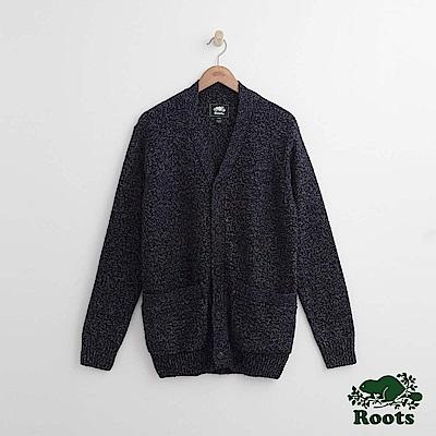 Roots-男裝-雪狐針織衫-藍