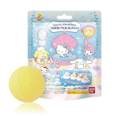 日本Bandai-三麗鷗小鴨造型入浴球(泡澡球)5入(3Y+/洋甘菊香味/沐浴球/洗澡玩具)