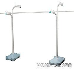 【Homemaker】優質不鏽鋼重型超大容量曬衣架_JY-0408C