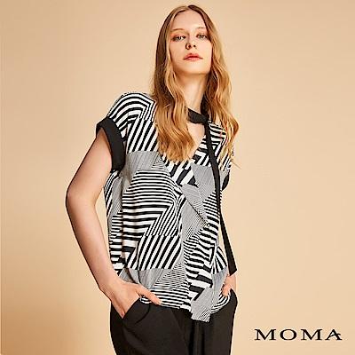 MOMA 幾何條紋雪紡上衣