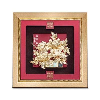 My Gifts 立體金箔畫-榮華富貴(祥和系列23.8x23.8cm)