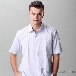 ROBERTA諾貝達 台灣製 休閒百搭 經典格紋短袖襯衫 藍灰