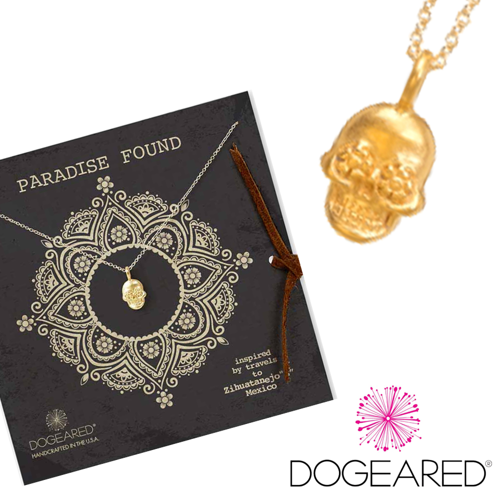 Dogeared paradise found 骷髏頭 925純銀14k金項鍊 附原廠盒