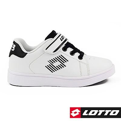 LOTTO 義大利 童 1973 經典網球鞋 (白/黑)