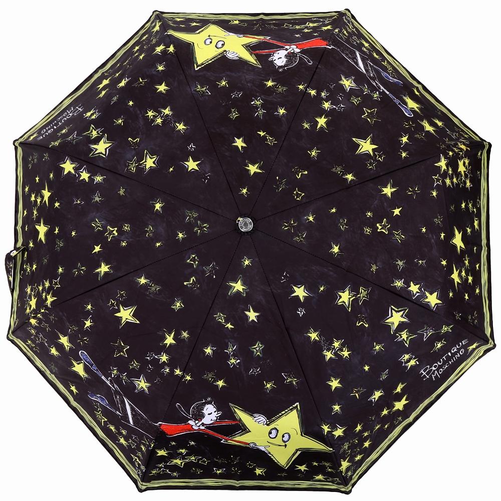 BOUTIQUE MOSCHINO Olivia 塗鴉星空奧莉薇自動摺疊傘