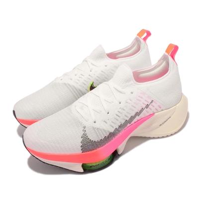 Nike 慢跑鞋 Zoom Tempo Next 男鞋 氣墊 避震 路跑 馬拉松 東奧配色 白 粉 DJ5430-100