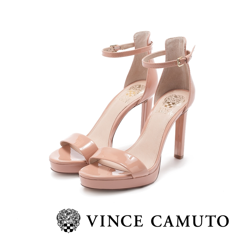 VINCE CAMUTO-BALINDIA 奢華性感踝繞帶高跟涼鞋-鏡粉色