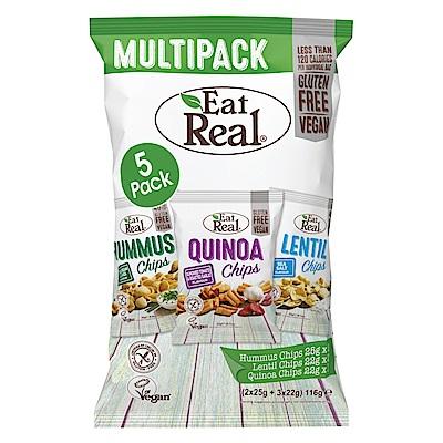 英國Eat Real 綜合口味派對分享包共5包(116g)