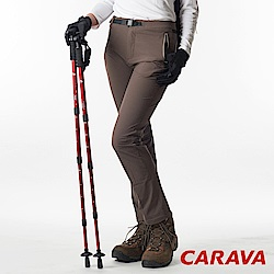 CARAVA《女款彈性排汗休閒褲》(棕綠)