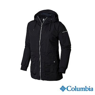 Columbia 哥倫比亞 女款-防潑水外套-黑色 UWR02000BK