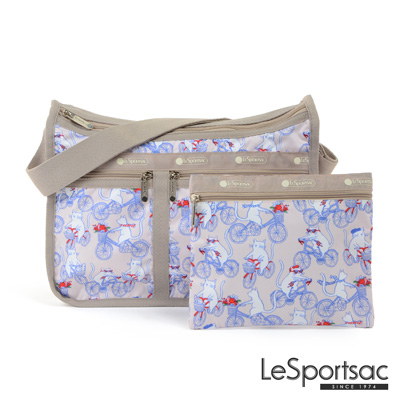 LeSportsac - Standard雙口袋A4大書包-附化妝包 (自行車日)