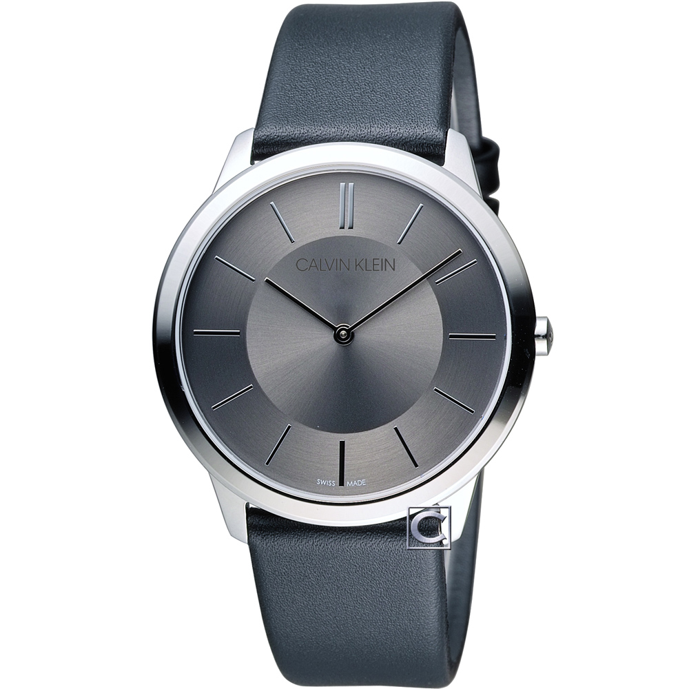 Calvin Klein Minimal 俐落時尚腕錶-灰/40mm