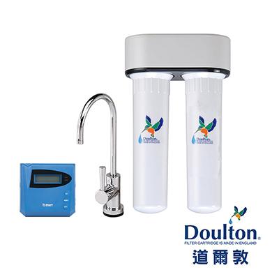 【DOULTON英國道爾敦】陶瓷濾芯顯示型雙管塑鋼櫥下型淨水器 (DIP-M12D)★英國原裝進口