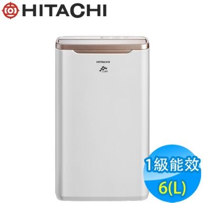 HITACHI日立 6L 1級LED面板清淨除濕機 RD-12FR 玫瑰金