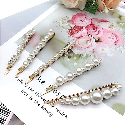 Hera 赫拉 雅緻名媛風珍珠髮夾(5入一組)