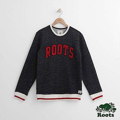 Roots 男裝-度假小屋圓領上衣-黑色