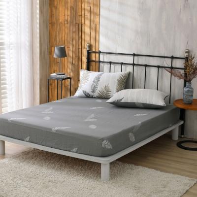 鴻宇 100%精梳棉 葉夜 單人床包枕套二件組