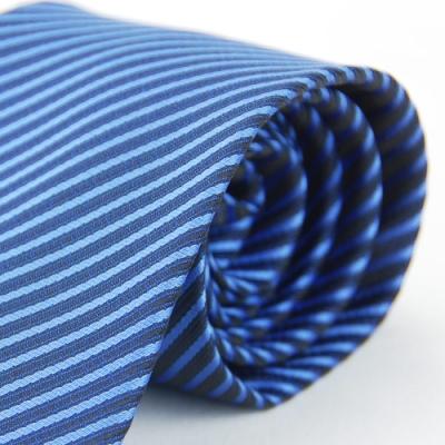 Alpaca 藍色壓光斜紋領帶fast