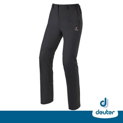 【德國DEUTER】女款透氣防曬快乾彈性長褲DE-PA1602W碳黑/零碼出清