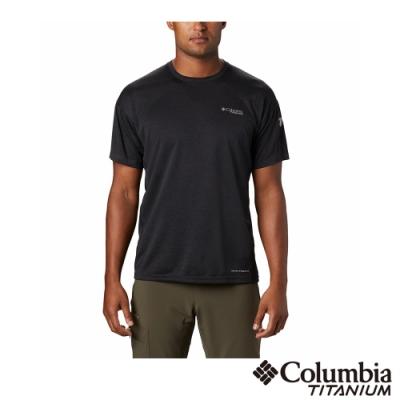 Columbia 哥倫比亞 男款- 鈦 涼感涼感快排短袖排汗衫-黑色