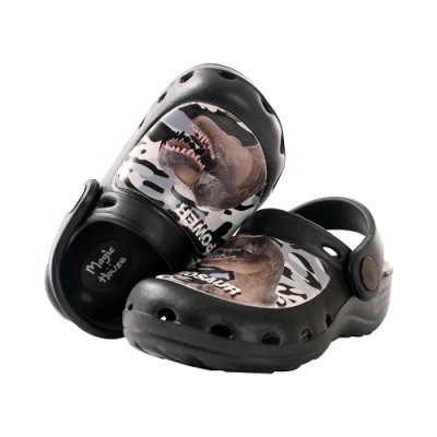 魔法Baby男童鞋 台灣製恐龍圖騰輕量水陸晴雨休閒鞋sk0996