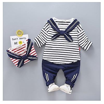 【韓品童裝】男童 中小童二件組海軍風褲套裝