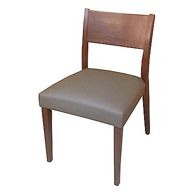AS-Eve胡桃灰皮面實木餐椅-48x52x80cm