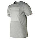 New Balance 短袖上衣 AMT81562AG 男性 淺灰