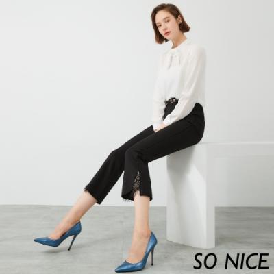 SO NICE時尚亮蔥蕾絲錦棉褲