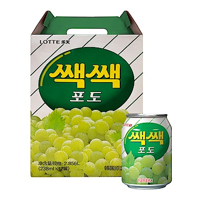 Lotte 樂天粒粒葡萄汁(238mlx12罐)