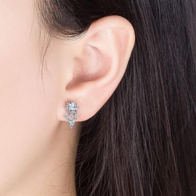梨花HaNA  韓國925銀愛的迫降尹世理菱形鑽石耳環