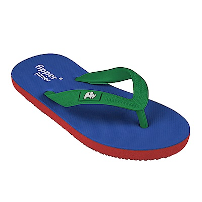 Fipper JUNIOR 天然橡膠拖鞋 BLUE RED GREEN