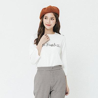 Hang Ten - 女裝 - 個性標語T恤-白色