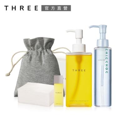 (時時樂限定) THREE 經典平衡潔膚油買再送潔膚油