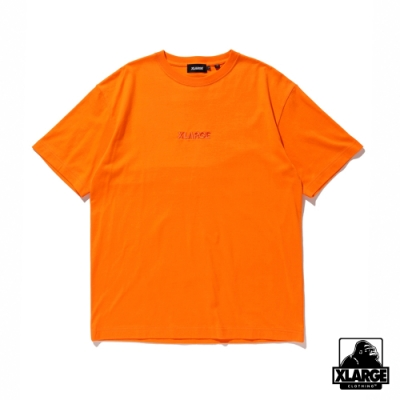 XLARGE S/S TEE EMBROIDERY STANDARD LOGO短袖T恤-橘