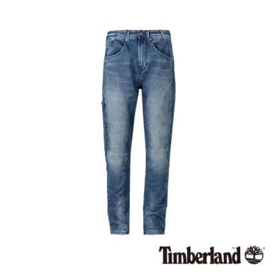 Timberland 男款氧化藍色彈性破斜紋布牛仔褲|A1XXA