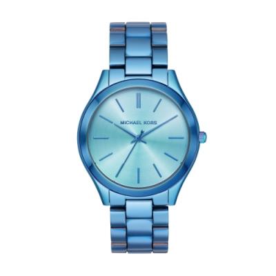 MICHAEL KORS超質感時尚藍腕錶MK4390