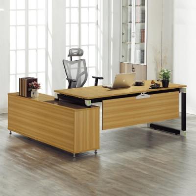MUNA 凱伊6.6尺辦公桌組(含側櫃) 200X180X75cm