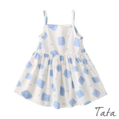 童裝 藍色餅乾印花洋裝 TATA KIDS