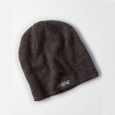 American Eagle AE 美國老鷹 經典標誌印刷雙面毛帽-灰色